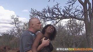 Ebony Girl Tied, Punished and Fucked Hard In Forest