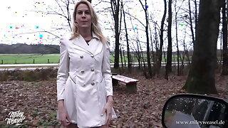 Hot German blonde gets fucked in public !!