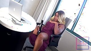 Nina Rivera masturbates when the boss is away