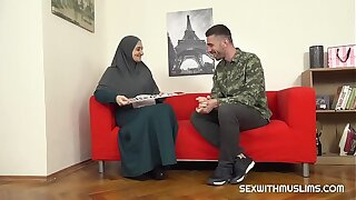 Hot muslim wife gets fucked hard