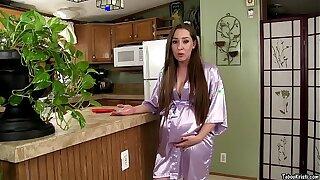 Preggo Mommy Kristi Seduces Son & Takes Big Cock in Pregnant Pussy - Taboo MILF Kristi Fauxcest