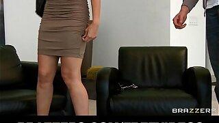 Stunning busty Asian maid Katsuni fucks her boss's big-dick