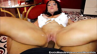 EroticMuscleVideos Big Black Cock Versus Big Muscular Clit