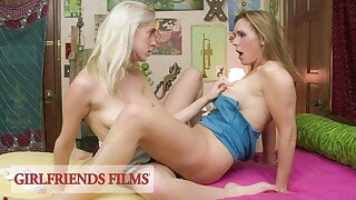 GirlfriendsFilms - Busty MILF Takes It Slow With Teen
