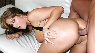 Pierced MILF Trina Michaels Spreads Her Cheeks for Anal