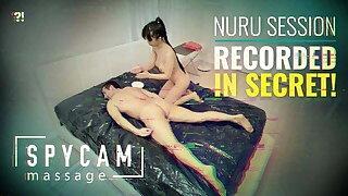 Spycam Caught Erotic Asian Nuru Massage on Tape