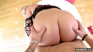 Huge Cock Meets Julie Cash's Fat Ass