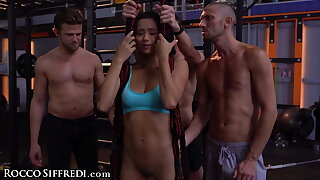 Veronica Leal Gets Gangbanged In A Gym While Training