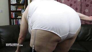 Stripping down to my white girdle