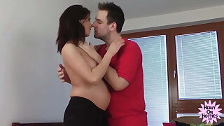 Pregnant Babe Desperate For Fucking