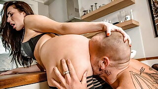 Husband Heats Up The Kitchen