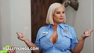 Curvy Officer Julie Cash Gets Naughty With Chris