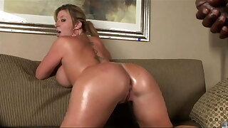 Hot MILF with big, massive tits rides BBC